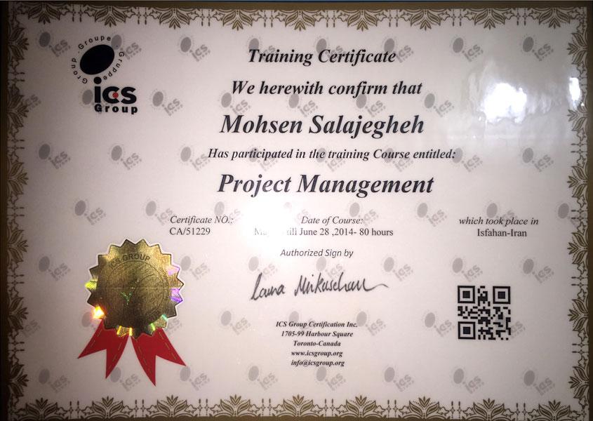 مدرک مدیریت پروژه ICS Group